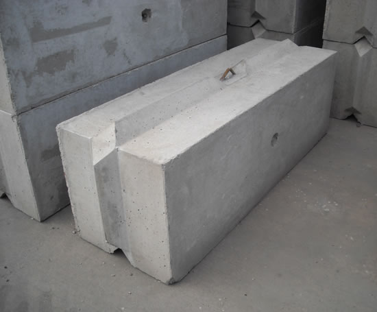 concrete blocks v-block